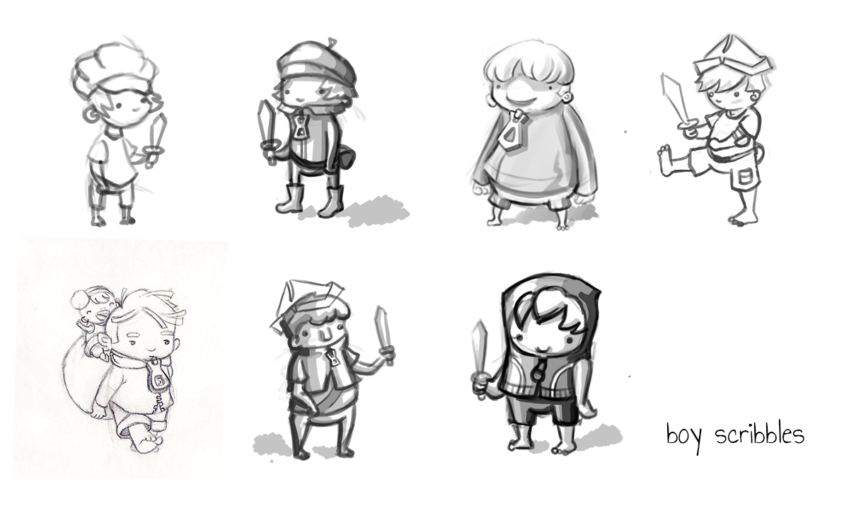 character scribbles